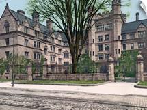 Vanderbilt Hall Yale College Connecticut Vintage Photograph