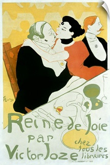 Reine De Joie,Vintage Poster, by Henri de Toulouse Lautrec