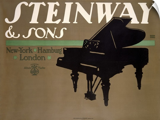 Steinway and Sons, Vintage Poster, by Lucian Bernhard