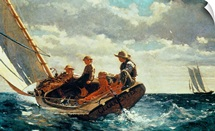 Breezing Up (A Fair Wind) 1873-76 (oil on canvas)