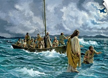 Christ walking on the Sea of Galilee