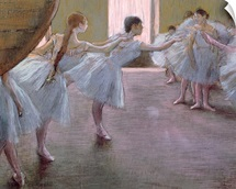 Dancers at Rehearsal, , 1875 1877 (pastel on cardboard)