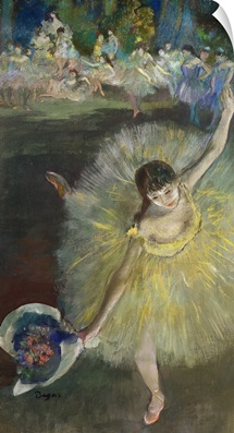End of an Arabesque, 1877 (oil & pastel on canvas)