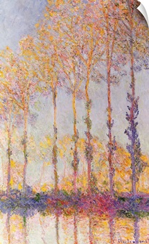 Poplars on the Banks of the Epte, 1891 (oil on canvas)