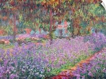 The Artists Garden at Giverny, 1900 (oil on canvas)