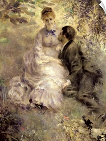 The Lovers, c.1875 (oil on canvas)