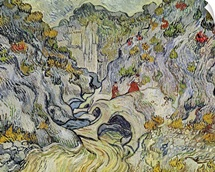 The ravine of the Peyroulets, 1889 (oil on canvas)