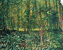 Trees and Undergrowth, 1887 (oil on canvas)