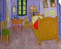 Van Goghs Bedroom at Arles, 1889 (oil on canvas)