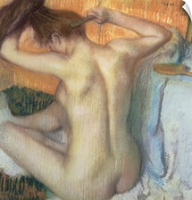 Woman combing her hair, c.1886 (pastel)