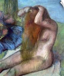 Woman doing her Hair, c.1895 (pastel)
