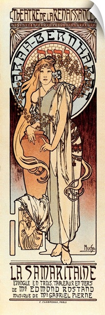 1897 Poster for The Samaritan, with Sarah Bernhardt. By Alphonse Maria Mucha