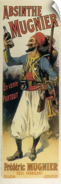 Advertisement sign for absinthe Mugnier, 1895. Poster