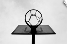 Basketball hoop.
