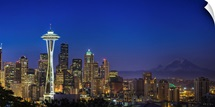 Image of Seattle Skyline in morning hours.