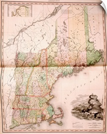 Map of New England in 1823