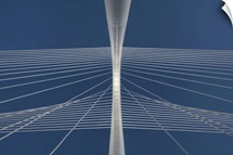 Margaret Hunt Hill bridge in Dallas, Texas.