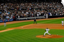 Mariano Rivera of the New York Yankees pitches against the Tampa Bay Rays