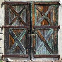 Old rustic barn doors