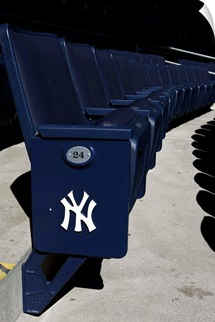 Yankee Stadium seats during opening day at the new Yankee Stadium