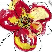 Red Butterfly Flower