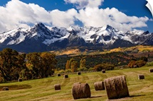 Bales of Hay on Ralph Lauren's Double RL Ranch; Ridgway, Colorado