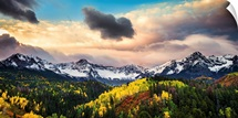 Sunrise and Clouds Over Colorado's Dallas Divide; Ridgway, Colorado