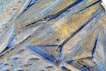 Backlit Ice Crystals