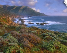 Cliffs and the Pacific Ocean, Garrapata State Beach, Big Sur, California