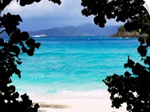 Panoramic view of a beach, Cinnamon Bay, St. John, US Virgin Islands