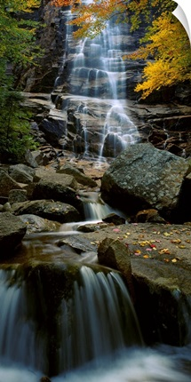 Waterfall in a forest, Arethusa Falls, Crawford Notch State Park, New Hampshire, New England