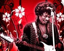 Jimi Hendrix Red Floral