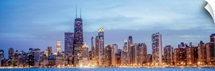 Chicago City Skyline in the Evening