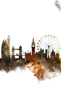 London Watercolor Cityscape
