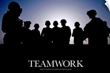 Military Poster: Teamwork is the ability to work together which determines success