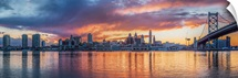 Philadelphia City Skyline at Sunset