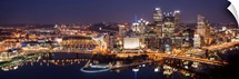 Pittsburgh City Skyline at Night