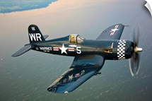 A Vought F4U 5 Corsair in flight