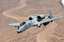 An A10 Thunderbolt soars above the skies of Iraq