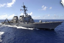 Guided missile destroyer USS Curtis Wilbur