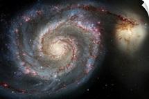 The whirlpool galaxy M51 and companion galaxy