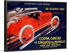 Coppa Ginori, Automobile Race,Vintage Poster