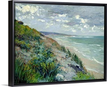 Cliffs by the sea at Trouville (oil on canvas)