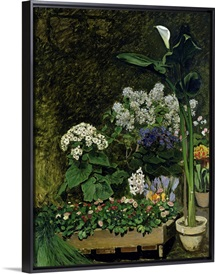 Flowers in a Greenhouse, 1864 (oil on canvas)