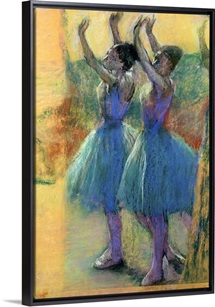 Two Blue Dancers (pastel on paper)