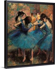 Dancers in Blue (Danseuses bleues), by Edgar Degas, ca. 1893. Musee d'Orsay