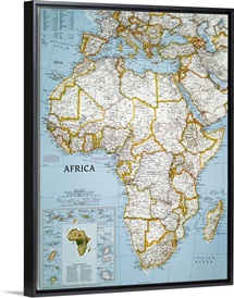 National Geographic political map of Africa