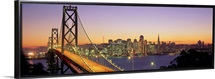 California, San Francisco, Bay Bridge, night