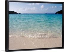 US Virgin Islands, St. John, Virgin Islands National Park, Panoramic view of Hawksnest Bay