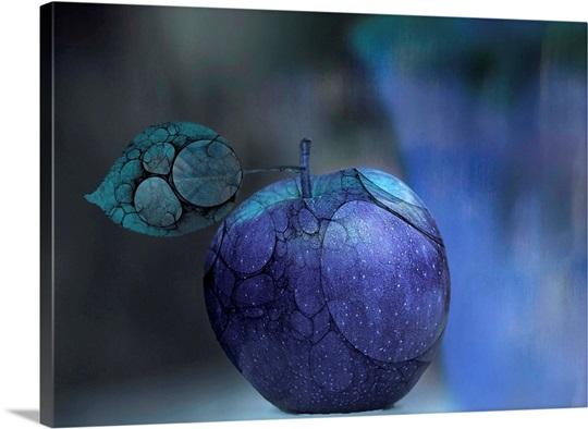 Blue Apple Print 86